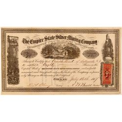 Empire State Silver Mining Company Stock Certificate  #107714