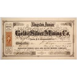 Kingston Junior Gold & Silver Mining Company Stock  #84530
