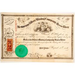 Mettacom Silver Mining Company of Reese River Stock  #80400