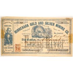 Minnehaha Gold and Silver Mining Company Stock  #86061