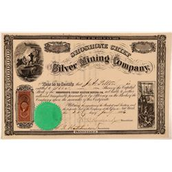 Shoshone Chief Silver Mining Company Stock Certificate  #107715