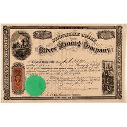 Shoshone Chief Silver Mining Company Stock Certificate  #107715