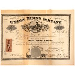 Union Mining Company Stock  #91952