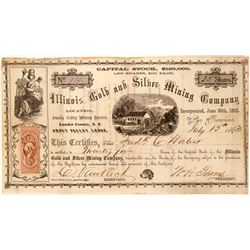 Illinois Gold and Silver Mining Company Stock  #91901
