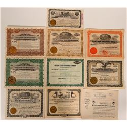 Seven Troughs Mining Stock Certificate Collection  #105985