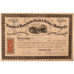 Batavia & Humboldt Gold & Silver Mining Co. Stock Certificate  #107736