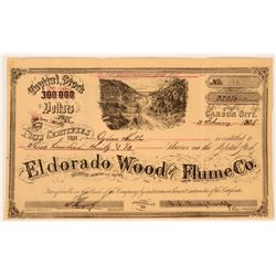 Eldorado Wood and Flume Co. Stock Issued to Ogden Mills, son of Capitalist Darius Mills  #110678