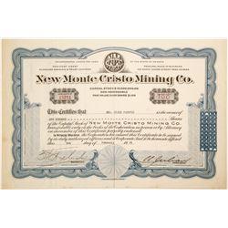 New Monte Cristo Mining Co  #91041