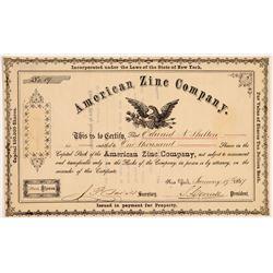 American Zinc Co Stock  #108108