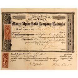 Mount Alpine Gold Co. of Colorado  #110842
