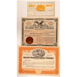 South Dakota Mining Stock Certs. (3)  #108152