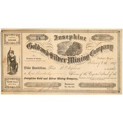 Josephine Gold and Silver Mining Company Stock  #91977
