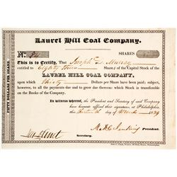 Laurel Hill Coal Company Stock  #80459