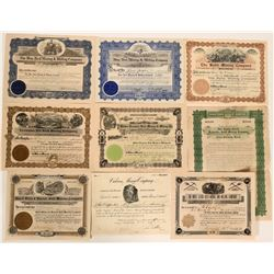 Deadwood, South Dakota Stock Certificate Collection  #105967