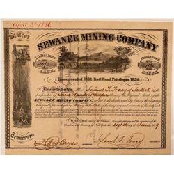 Sewanee Mining Company Stock Certificate  #107713