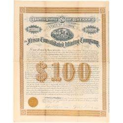Frisco Consolidated Mining Company $100 Bond  #100796