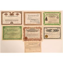 Juab County Stock Certificates- Group 5  #110126