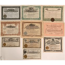 Tooele County, Utah Stock Certificates- Group 1  #110097