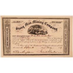 Stony Man Mining Company Stock Certificate  #107707