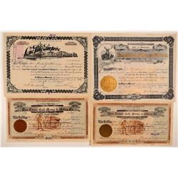Four Different Choice Republic, Washington Mining Stock Certificates  #107645
