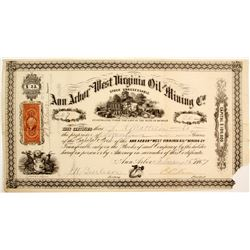 Ann Arbor & West Virginia Oil and Mining Company Stock  #81925