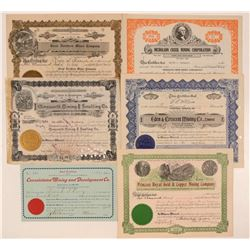 British Columbia Mining Stock Certificates  #107642