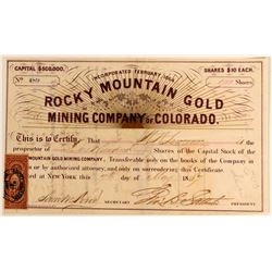 Rocky Mountain Gold Mining Co. of Colorado  #110843