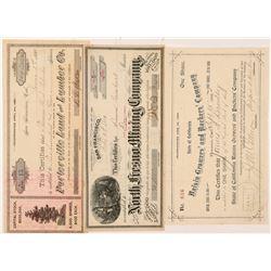 Fresno Area Mining & Non-Mining Stock Certificates  #107004