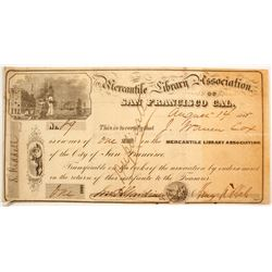 Mercantile Library Association Stock  #88179