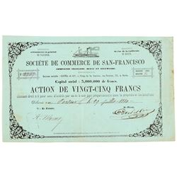 Societe de Commerce de San-Francisco Stock Certificate (Gold Rush)  #104421