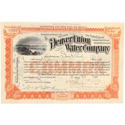 Denver Union Water Company  #104912