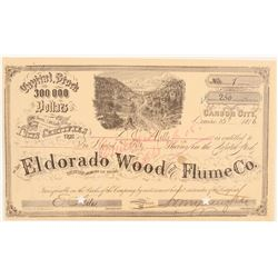 El Dorado Wood & Flume Co. Stock Number 1 Issued to DO Mills  #91821