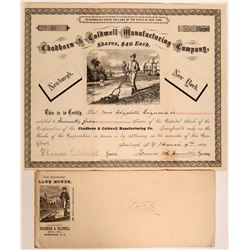Early American Lawnmower Stock with Vignette, 1887  #110207