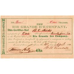 Rio Grande Ice Company Stock Certificate  #101565