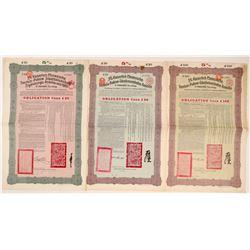 Tienstin-Pukpow Railway Loan Bonds, 1912  #106570