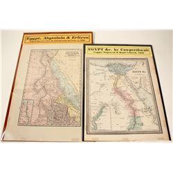 2 Egypt Maps  #63112
