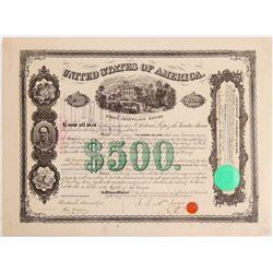 Santa Anna Autographed U.S. Bond  #106422
