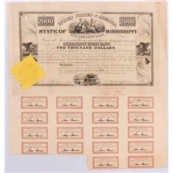 State of Mississippi Bond 1838  #106420
