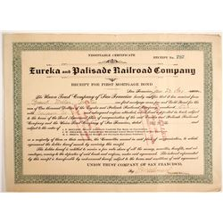 Eureka & Palisade Railroad Company Bond  #77256