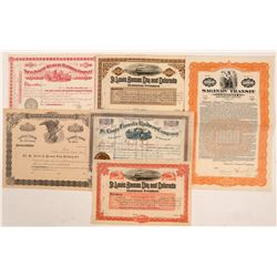 Central US Railroad ephemera.  #105550