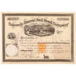 Colorado Central Rail Road Company  #106535