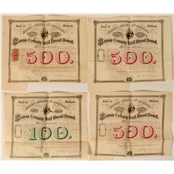 Eaton County Railroad Company Bonds (4)  #107656