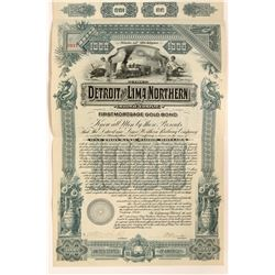 Detroit and Lima Northern Railway Co. Gold Bond, 1897  #110300