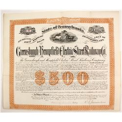 Greensburgh and Hempfield Electric Street Railroad Bond  #83262