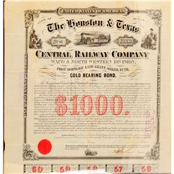 The Houston & Texas Central Railway Co  #101305