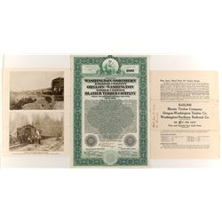 Washington Northern Railroad  Bond  #84109