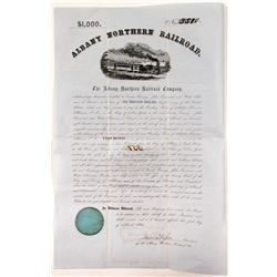 Albany Northern Railroad $1,000 Bond  #81526