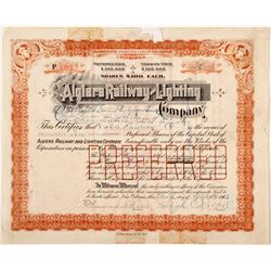 Algiers Railway & Lighting Co. Stock  #81524