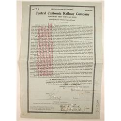 Central California Railway Co. - 1st Mortgage  #82227