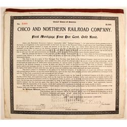 Chico and Northern Railroad Co., 1st Mortgage  #82220